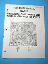 Harman Kardon Service Manual - Cad 5 - Original - Technical