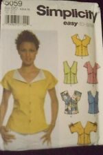 SIMPLICITY 5059 EASY PATTERN SIZES 4 6 8 10 MISSES TOPS 6 Great Looks UNCUT