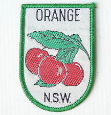 VINTAGE ORANGE NSW EMBROIDERED SOUVENIR PATCH WOVEN CLOTH SEW-ON BADGE