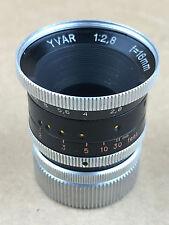 Kern-Paillard 16mm f/2.8 Yvar AR C-Mount Lens - Frozen Focusing Ring