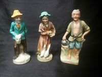 Vtg ARDCO Old Couple Man and Woman Porcelain Figurines and Old man No Damage