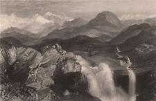 BRITISH INDIA. Falls near the source of the Yamuna, above Delhi. TURNER 1858