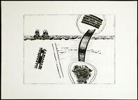 Kunst in der DDR. Radierung von Michael MORGNER (*1942 D), handsigniert