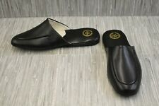 L.B. Evans Duke Scuff Slippers, Men's Size 12EEE, Black