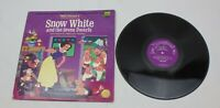 Walt Disney Snow White and the Seven Dwarfs Record LP 3906 Illustrated Book 1969