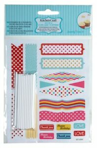 Kitchen Craft Sweetly Does It Cupcake Toppers Pack of 20 SDICCFLAGS01 Fairy Cake