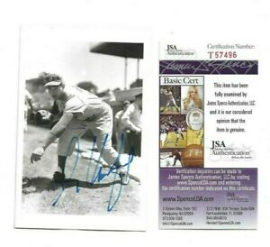 Sandy Koufax Brooklyn Dodgers Autographed Baseball Brace Postcard Photo JSA COA
