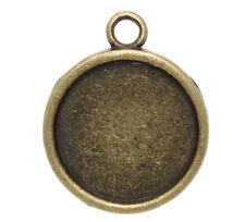Anhänger bronze für Cabochons 18mm 3 Stück AH
