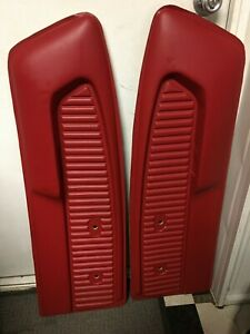 NEW 1964-66 FORD MUSTANG PONY DOOR PANELS BRIGHT RED PAIR (2)