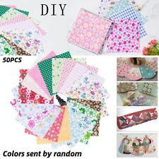 50Pcs Cotton Telas Fabric Fat Quarter Bundles Fabric Patchwork DIY Sewing Crafts