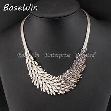 ELEGANT HIGH QUALITY BOSEWIN  RHODIUM PLATED SILVER NECKLACE HEDGEHOG STYLE
