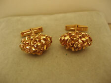 14k GOLD CUFFLINKS SOLID DOMED NUGGET 20.3gm HEAVY