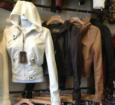 Women Faux leather Jacket coat White Black Brown Juniors S,M,L CI sono Cavalini