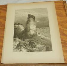1874 Antique Print/MONUMENT ROCK, ECHO CANYON, UT