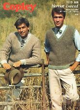 Homme Pull Taille 91-107 cm 36-42 in Copley 606 VINTAGE KNITTING PATTERN
