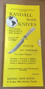 Randall made Knives, Catalogue and Knife Manual- Dec 5, 1963 w/ Order Form
