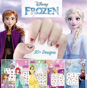 Kids nail stickers Frozen Minnie Pony Peppa princess nail art girls kids Barbie
