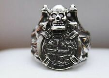 Skull Atocha Ring Coin 925 Sterling Silver Sunken Treasure Shipwreck Jewelry