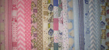 BABY FABRIC LAYERCAKE SQUARES INFANT BUNDLE CRAFTS PATCHWORK SEWING  25CM X 25CM