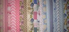 Bebé tela layercake plazas Infantil Paquete Manualidades Patchwork Costura 25CM X 25CM