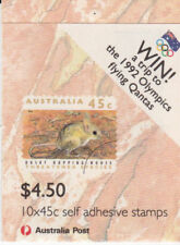 1992 Australian Booklet -Threatened Species Olympic Draw CTO 10 x 45c P&S Stamps