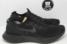 Nike Epic React Flyknit Triple Black Size 13
