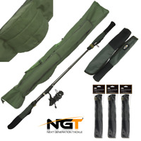 NGT ROD HOLDALL BAG 618 HOLD 3 RODS + 3 SETS TIP BUTT PROTECTORS CARP FISHING