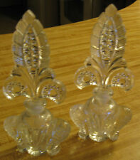 GLASS - PERFUME CONTAINERS - BOTTLES - DECORATIVE - VINTAGE - SET OF 2 - LOT