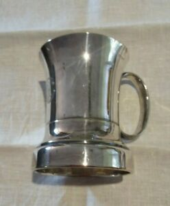 """Mappin & Webb Vintage A1 Silver Plate Pint Tankard - 5 1/4"""" or 13.5cm Tall -VGC"""