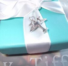 TIFFANY & CO 1st EDITION PLANE CHARM STERLING SILVER PENDANT OR CHARM ESTATE TCO