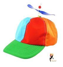 Rainbow Adult HELICOPTER CLOWN HAT Propeller Cap LGBT Pride Fancy Dress Nerd