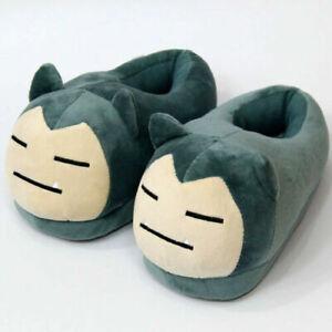 New Anime Snorlax Plush Slipper Cartoon Soft Toy Adult Shoes Gift UK8