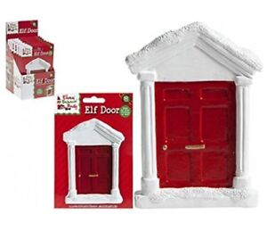 CHRISTMAS ELF MAGICAL RED & WHITE DOOR