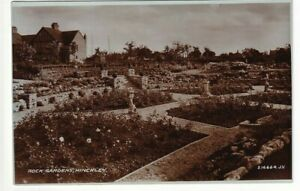 1933 Valentine's Real Photo Post Card of Rock Gardens, Hinckley, Leicestershire