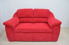 SUPER COMFY TWO SEATER ''JERRY'' WITH STORAGE, SOFT WAFFLE FABRIC, RED!
