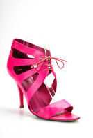 Givenchy  Womens Cut Out Lace Up Sandals Hot Pink Leather Size 39.5  9.5