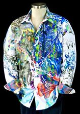 Robert Graham Impaired Vision NWT Psychedelic Neon Sport Shirt XL