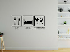 Eat Sleep Kickboxing Wall Sticker - Decal Vinyl Boys Bedroom Sport Funny Quote