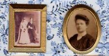 Dollhouse Miniature Golden Frame Victorian Sepia Photos Wedding Picture 1:12