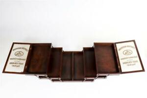 "Vintage ~ c1920 ""Cartier-Bresson Cottons"" Cantilever Shop Display Cabinet  #2101"