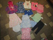 NEW LOT /12 BABY GIRL CLOTHING CARTERS DRESSES SHORTS ROMPERS 18 MONTHS FREE SHP