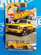 Hot Wheels Wal-Mart Exclusive RAD Trucks Series 2/8 Custom '69 Chevy P/U Yellow