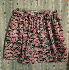 Handmade Summer Flamingo Flare Skirt Medium Large