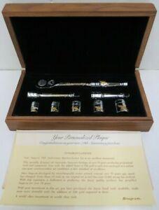 1990 SNAP-ON 24KT Gold Engraved 70th Anniversary Ratchet & Socket Extension Set