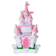 Personalized Disney Princess Castle Baby Girl's First Christmas Ornament