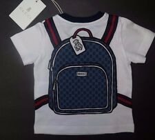 BNWT Beautiful Designer GUCCI Boys S/S Top  3/6 Months  ITALY