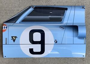 WOW! P Rodriguez 1968 Ford Gt40 Lemans Race Side View Car Style Sign Gulf racing