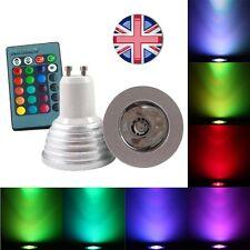 Libre B22 Adaptador & Control Remoto Cambio De Color Dimable Bombilla Led GU10 Reino Unido