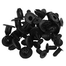 20 Pz Clip del pannello Car Interior Trim Plastica nera rivetto per 10 mm H X2G0