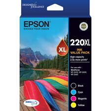 Epson Genuine 220XL High Yield Value Pack WF-2630 2650 WF-2660 XP 220 320